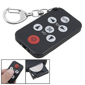 HDE® Micro Spy Remote Mini Black 7 Buttons Universal Tv Remote Control And Keychain