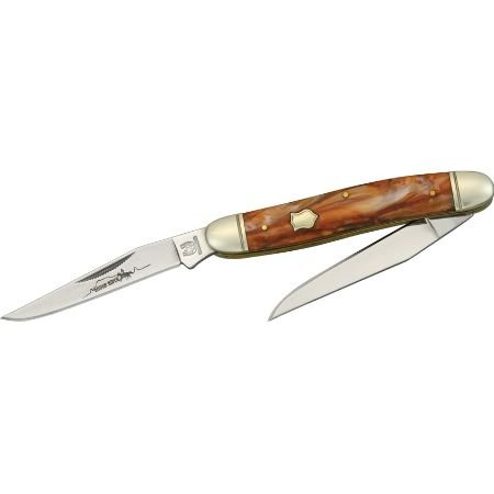 Colt Bowie With Black Checkered Wood Handle