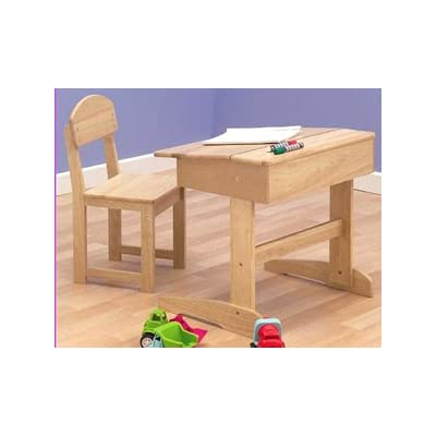 Childrens Wooden Educational Desk & Chair