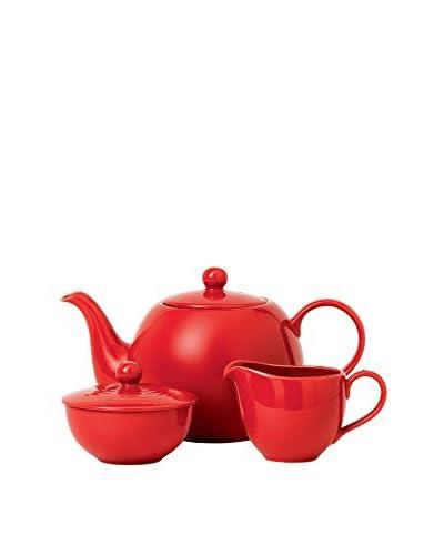 Gordon Ramsay by Royal Doulton Maze Chili Red 3-Piece Tea Service Set
