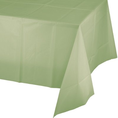 Creative Converting Touch of Color Plastic Table Cover 54 by 108-Inch Ivory