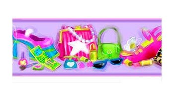 Girls Room Makeup - ACCESSORIZE - Girls Wallpaper Border