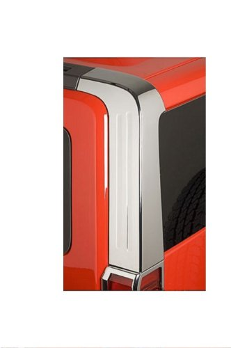 Hummer H3 Accessories - Chrome Rear Upper Pillar Covers 2006, 2007, 2008, 2009, 2010
