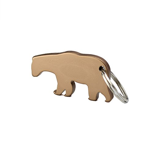 Swatom Bear Shape Aluminum Alloy Bottle Opener Keychain, 1 Piece (Bottle Opener Keychain Bear compare prices)
