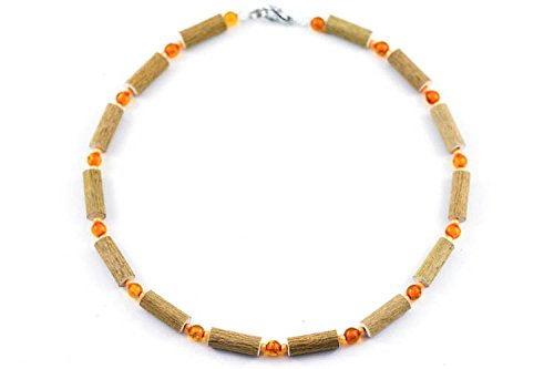 Healing Hazel Amber Children Necklace, Orange/Amber - 1