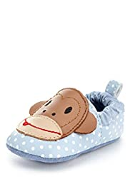Leather Monkey Pram Shoes