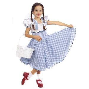 Private Label Discontinued Child Small 4-6 - Dorothy Costume Dress with Hair Ribbons (basket, shoes, socks not included) at Sears.com