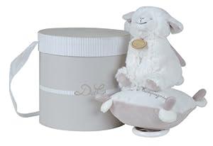 Doudou et Compagnie DC2430 - Caja de música con oveja de peluche, color beige y marrón claro