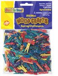 Mini Spring Clothespins: 250 Pieces - Bright Hues
