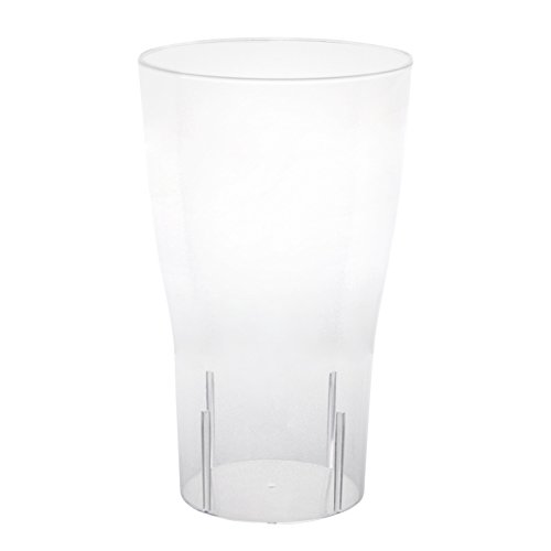 Party Essentials Hard Plastic Party Cups, Pint Glasses, 16-Ounce, Clear, 10-Count