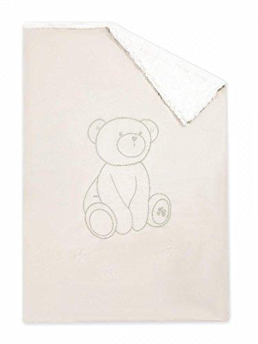 Tartine et cioccolato, Plaid copertina, colore: bianco avorio, ultra morbido, 100 x 75 cm, per bambino, da pranzo, colore: cioccolato