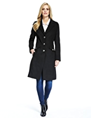M&S Collection Epaulettes Military Coat