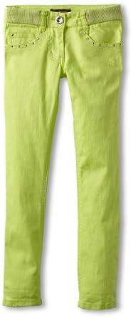 My Michelle Big Girls' Silver Button Pant, Kiwi, 14