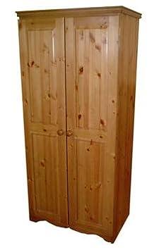 Wye Pine Ladies Farmhouse Wardrobe - Finish: Unfinished - Stain: Waterbased
