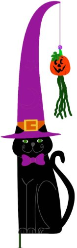 Georgetown Large Black Cat Flag, Purple