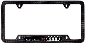 Genuiene Audi Accessories KB Carbon Fiber Truth In - Audi license plate frame