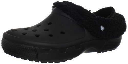 Crocs, Mammoth Full Collar Sabot U, Zoccoli e sabot, Unisex - adulto, Nero (BKBK), 43-44