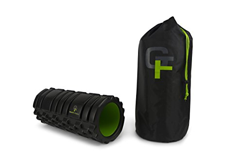 Gravity-Fitness-Foam-Roller-High-Density-Foam-with-Durable-PVC-Core-3-Different-Surface-Shapes-for-Ideal-Mobility-and-Flexibility-Training-13-x-55-Inches-Includes-Free-Storage-Bag-and-Exercise-Program