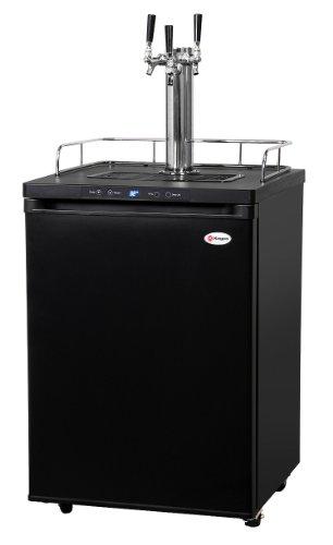 Why Should You Buy Kegco K309B-3HB Triple Faucet Digital Home Brew Kegerator - Black Matte Cabinet a...