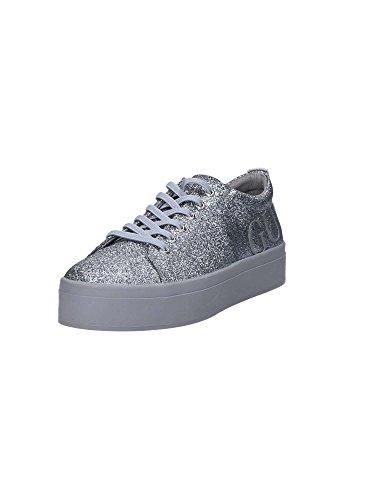 Guess Flfhe3 Fam12 Sneaker DONNA Argento, Taglia 41