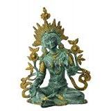 Redbag Goddess Tara Brass Statue With Antique Finish ( 38.74 Cm, 29.21 Cm, 23.5 Cm )