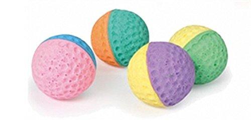 Camon pallina in morbida spugna gioco gatto Confezione da 4 palline