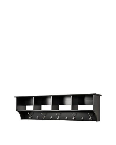 Prepac 60 Hanging Entryway Shelf, Black