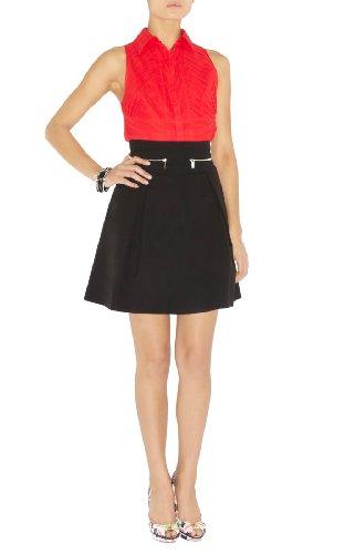 Crisp Black Cotton Skirt