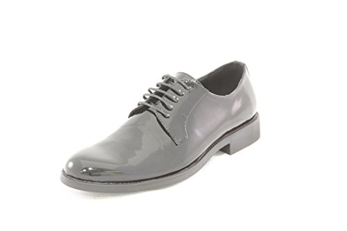 AwAy scarpa stringata derby inglese nero lucido in pelle shoes real leather black