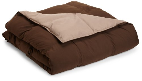 All Season Down Alternative Full/Queen Reversible Comforter, Taupe/Chocolate