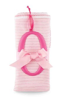 Mud Pie O Cotton Receiving Blanket-Pink