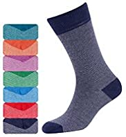 7 Pairs of Freshfeet™ Cotton Rich Feeder Striped Socks with Silver Technology