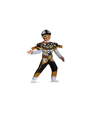 Mighty Morphin Power Rangers Super Megaforce Silver Gold Mode Boys Medium Size 2t