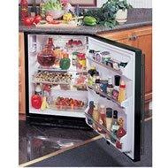 Marvel 6.1 Cu Ft Undercounter Black Refrigerator