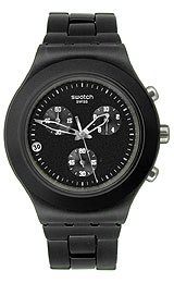 Swatch Full-Blooded Smoky Black Chrono Men's watch #SVCF4000AG