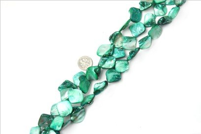 15x20mm freefrom green Sea shell beads strand 15