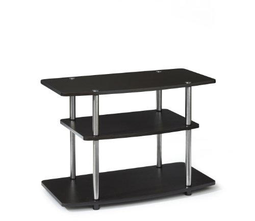 Convenience Concepts 131020ES Designs-2-Go 3-Tier TV Stand for Flat Panel Television Up to 32-Inch or 80-Pound, Dark Espresso image