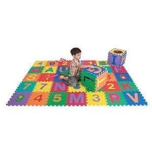 Amazon Com Abc And 123 Foam Floor Mat Set 36 Tiles Set