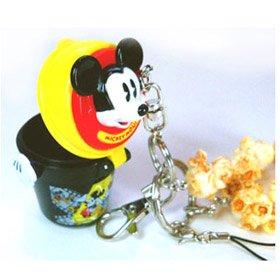 ミッキーマウス ディズニーリゾート限定 ポップコーンバケツ 携帯ストラップ キーチェーン