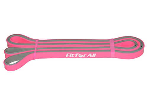 Fit For All Resistance Band For Exercise, Latex, Pink, Level 1 ( 208 Cm X 1.2 Cm X 0.5 Cm)