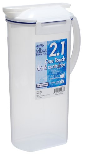 Lustroware K-1290AA One Touch Drink Container, 0.5-Gallon, White (Airtight Drink Pitcher compare prices)