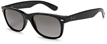 Ray-Ban RB2132 New Wayfarer Sunglasses,52 mm,JET BLACK