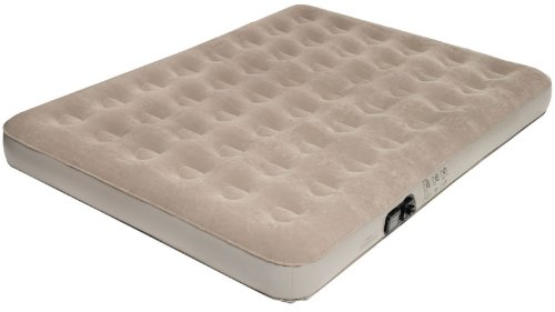 Pure Comfort Low Profile Suede Top Air Bed With Built In Pump (Tan, Queen) front-823670