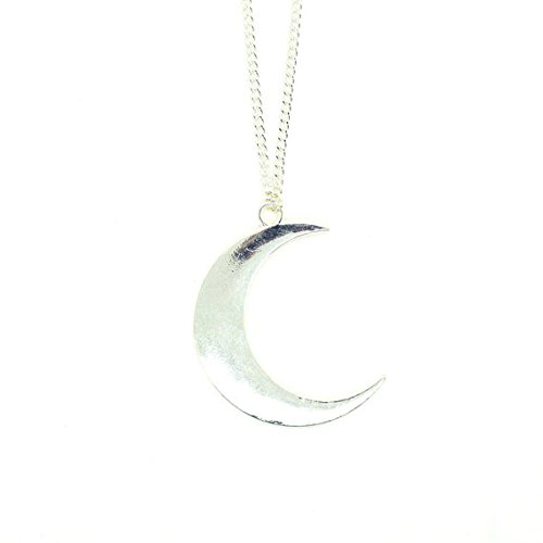 large-silver-crescent-moon-necklace-moon-pendant-half-moon-necklace-long-layering-necklace-celestial