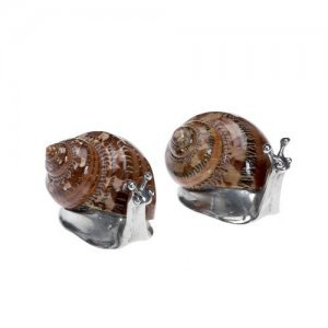 At home in the country - Snail Salt and Pepper Set - Pewter and Real Shell - Fabulously Unique! from At home in the country