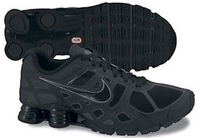 Nike Shox Turbo+ 12 Mens Running Shoes [454166-001] Black/Black-Metallic Cool Grey-Metallic Cool Grey Mens Shoes 454166-001
