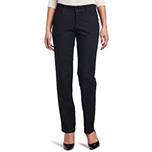 Lee Women's Relaxed Fit Plain Front Jeans, Indigo Rinse, 18 Long