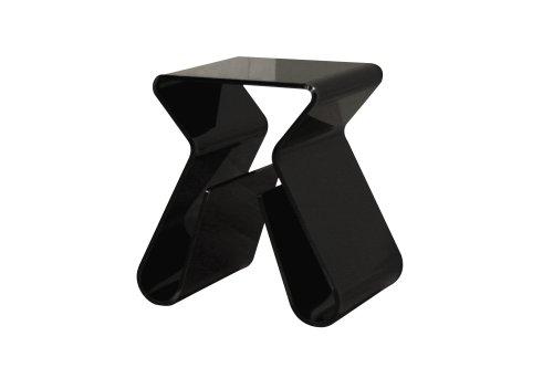 Cheap Baxton Studio Velia Acrylic Stool/End Table, Black (FAY-8196-black)