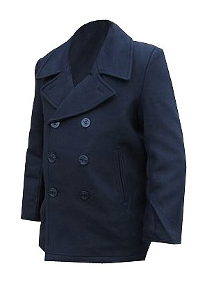 Mil-tec Black US Navy Pea Coat, Size- 40 inch