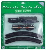 Scout Series 10 Piece Classic Train Set, Black Steam - 1